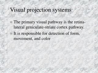 Visual projection frameworks