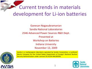 Current patterns in materials advancement for Li-particle batteries