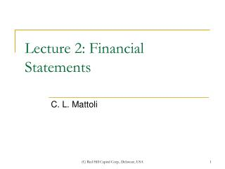 Address 2: Financial Statements