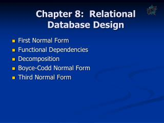 Part 7: Relational Database Design
