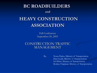 BC ROADBUILDERS and