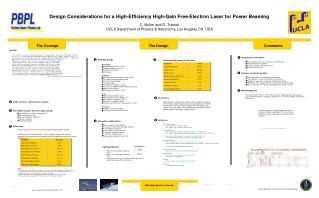 Plan Considerations for a High-Efficiency High-Gain Free-Electron Laser for Power Beaming