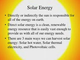 Sun oriented Energy