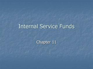 Interior Service Funds