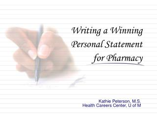 Composing a Winning Personal Statement for Pharmacy