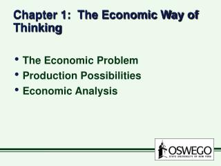 Part 1: The Economic Way of Thinking