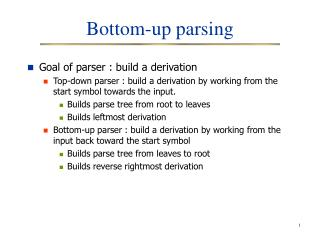 Base up parsing
