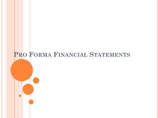Expert FORMA FINANCIAL STATEMENTS