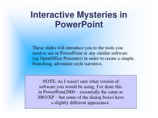 Intuitive Mysteries in PowerPoint