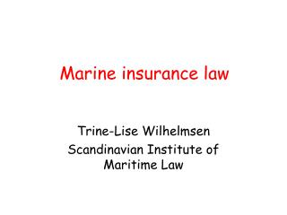 Marine protection law