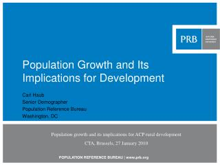 Populace Growth and Its Implications for Development
