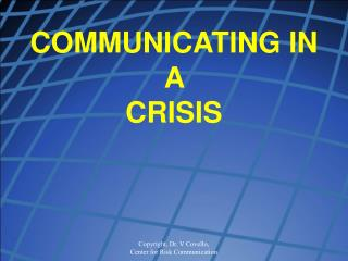 Imparting IN A CRISIS