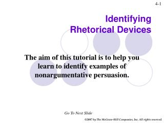 Distinguishing Rhetorical Devices