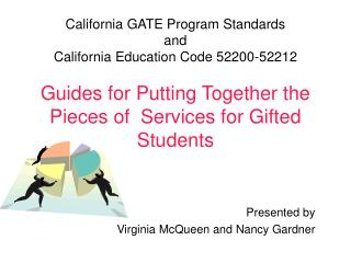 California GATE Program Standards and Californ