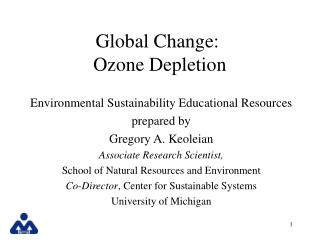 Worldwide Change: Ozone Depletion