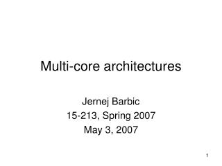 Multi-center architectures