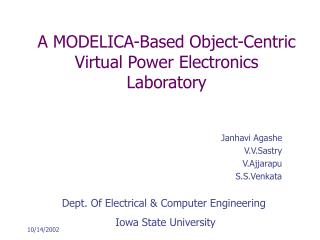 A MODELICA-Based Object-Centric Virtual Power Electronics ...