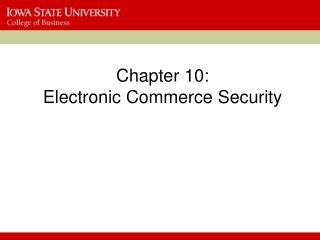 Section 10: Electronic Commerce Security