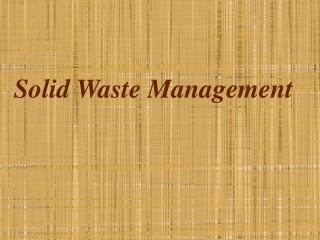 Strong Waste Management