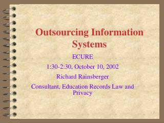 Outsourcing Information Systems
