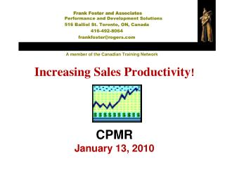 Expanding Sales Productivity CPMR January 13, 2010