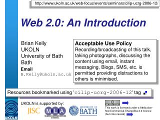 Web 2.0: An Introduction