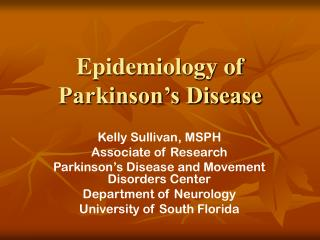 The study of disease transmission of Parkinson