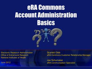 Time Commons Account Administration Basics