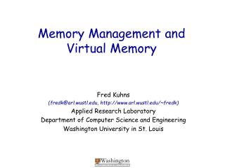 Memory Management and Virtual Memory