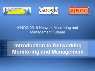 Prologue to Networking Monitoring and Management