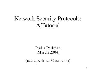 System Security Protocols: A Tutorial