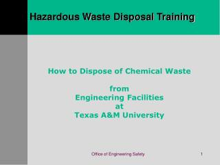 Unsafe Waste Disposal Training