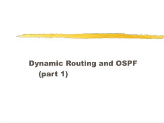 Element Routing and OSPF section 1