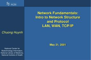 System Fundamentals: Intro to Network Structure and Protocol LAN, WAN, TCP