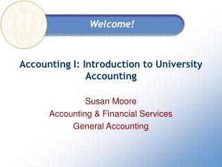 Bookkeeping I: Introduction to University Accounting