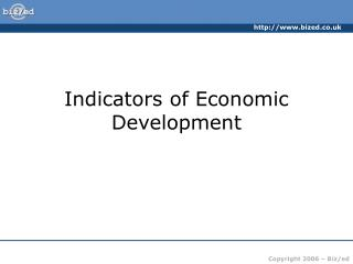 Markers of Economic Development