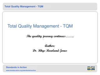 All out Quality Management - TQM