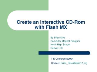 Make an Interactive CD-Rom with Flash MX