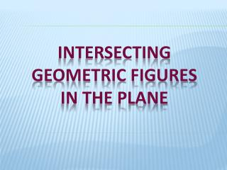 Meeting geometric figures in the plane