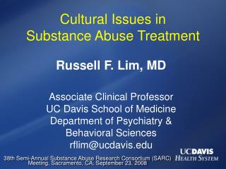 Social Issues in Substance Abuse Treatment