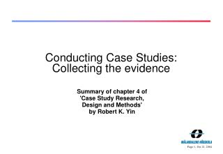 Leading Case Studies: Collecting the confirmation