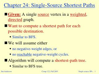 Part 24: Single-Source Shortest Paths