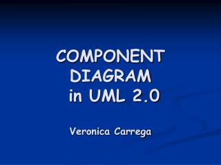 Part DIAGRAM in UML 2.0 Veronica Carrega