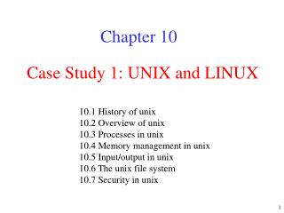 Contextual investigation 1: UNIX and LINUX