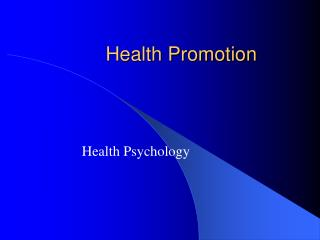 Wellbeing Promotion