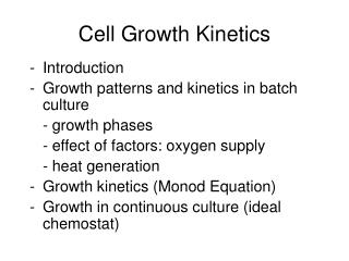 Cell Growth Kinetics