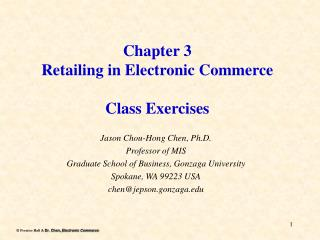 Section 3 Retailing in Electronic Commerce Class Exercises