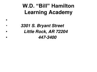 W.D. Charge Hamilton Learning Academy