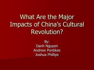 What Are the Major Impacts of China s Cultural Revolution