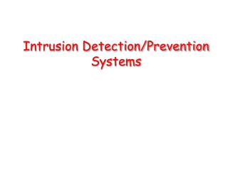 Interruption Detection